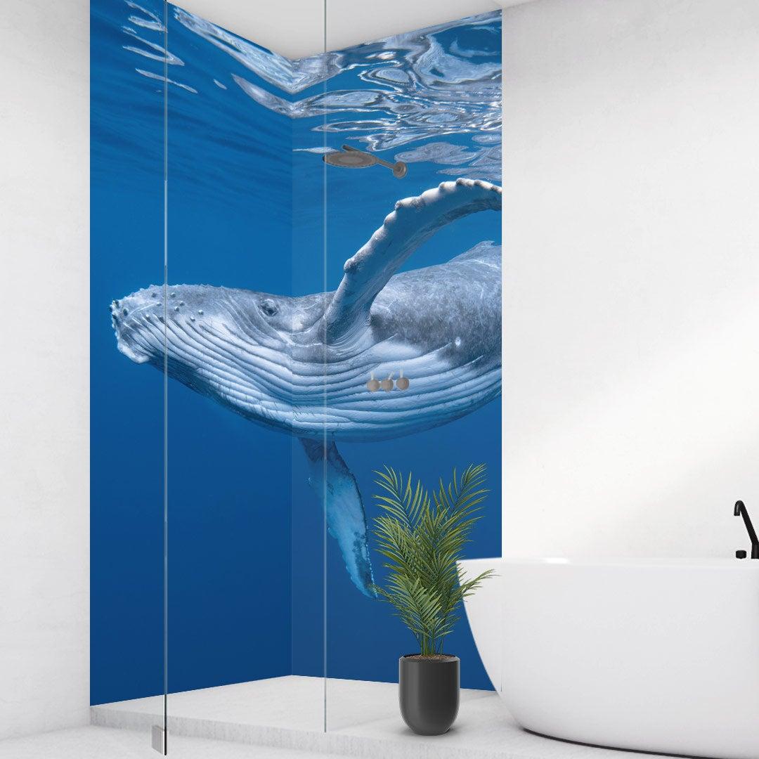 Duschrückwand Buckelwal über Eck Set