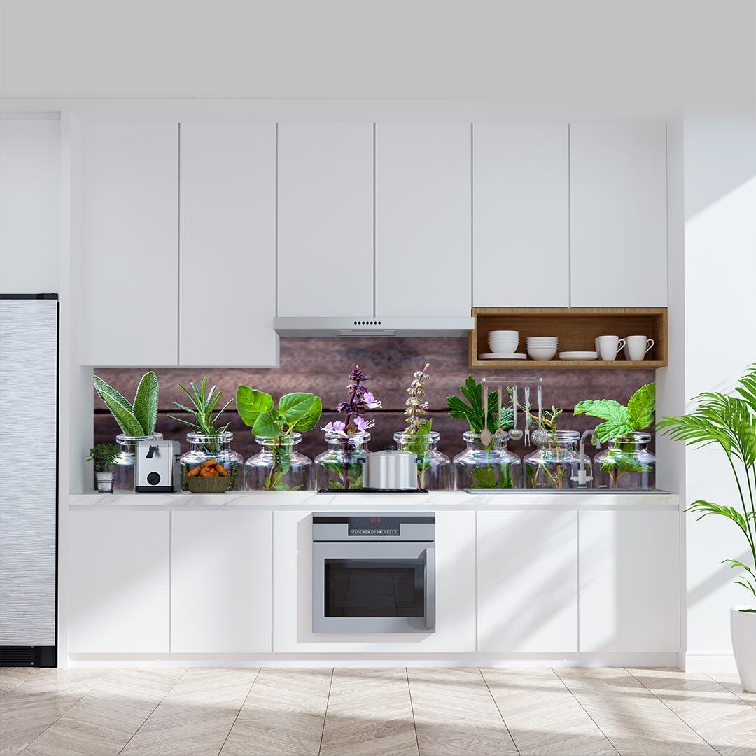 Küchenrückwand Kräuter