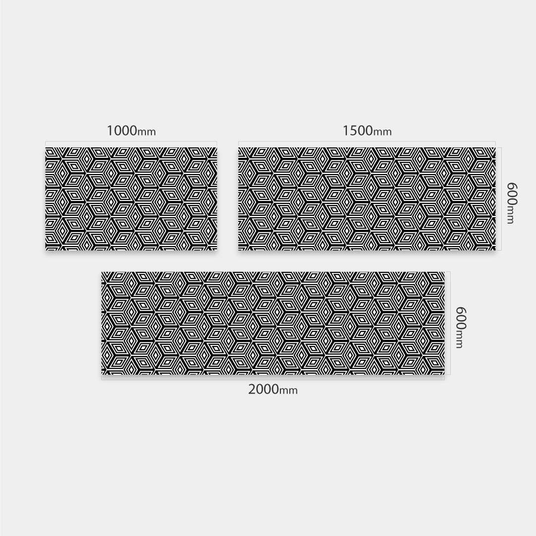 Küchenrückwand Hexagon, fugenlose Wandpaneele aus Alu-Verbund 3mm