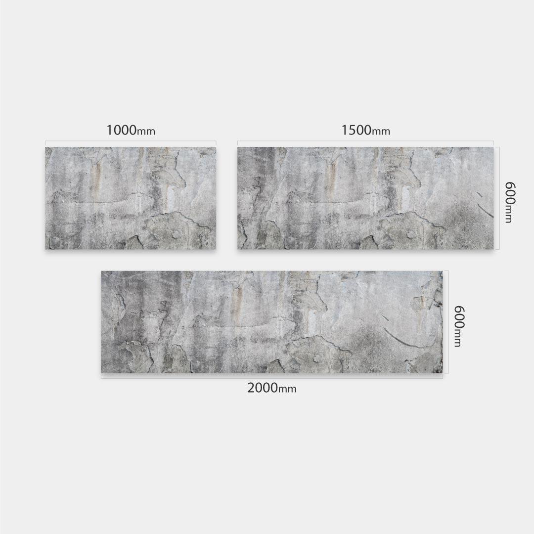 Küchenrückwand Beton Alt, fugenlose Wandpaneele aus Alu-Verbund 3mm