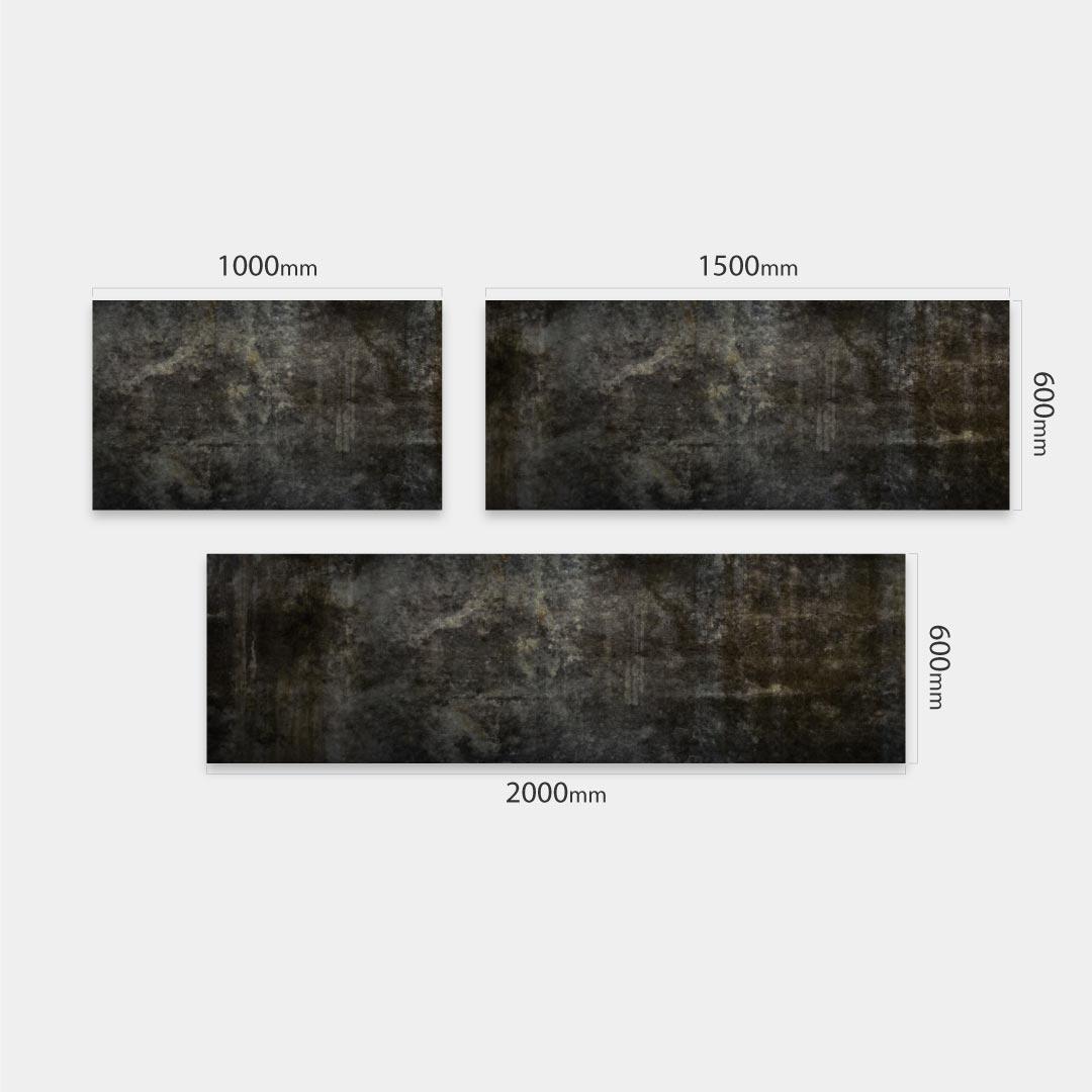 Küchenrückwand Beton Schwarz , fugenlose Wandpaneele aus Alu-Verbund 3mm