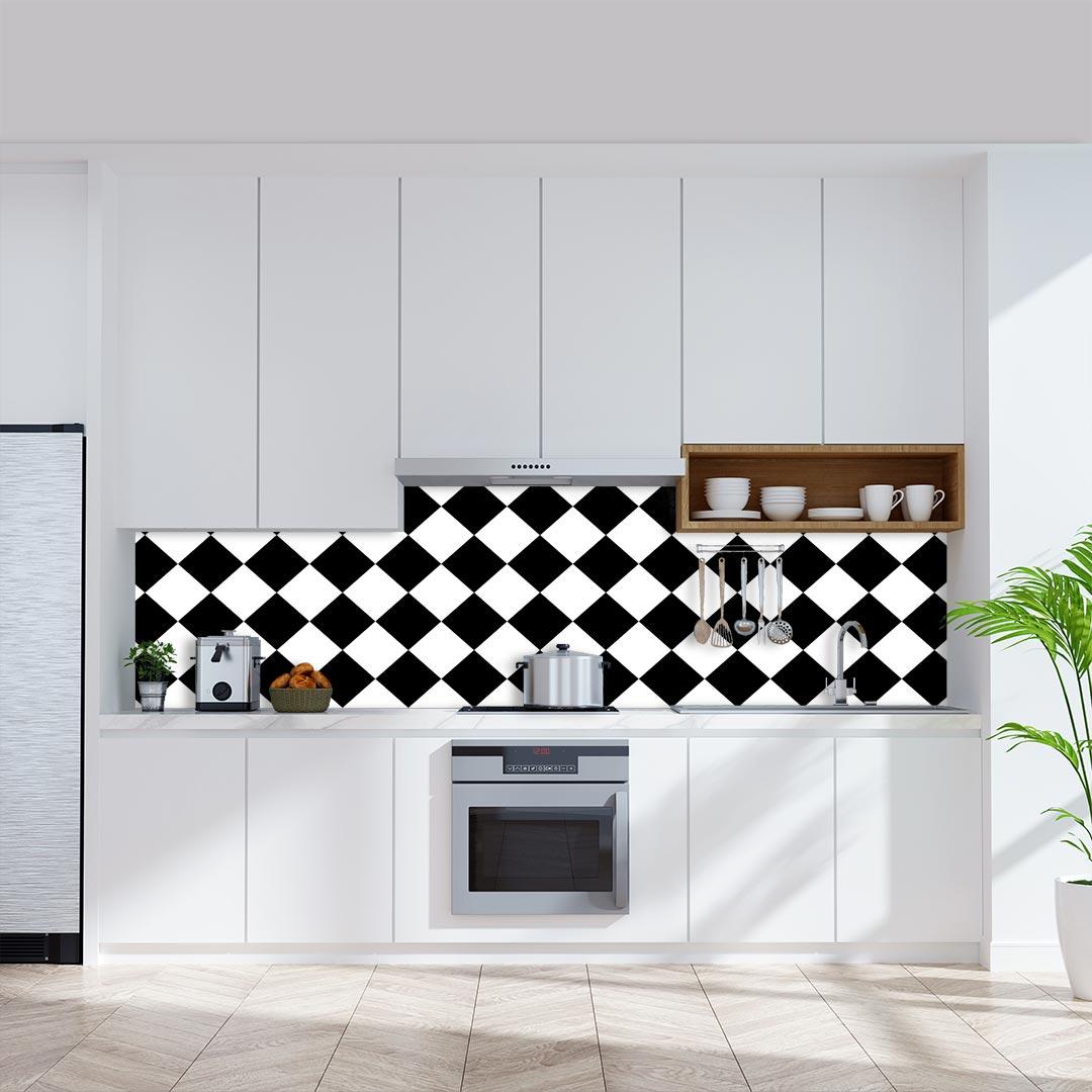 Küchenrückwand Checkered Diagonal