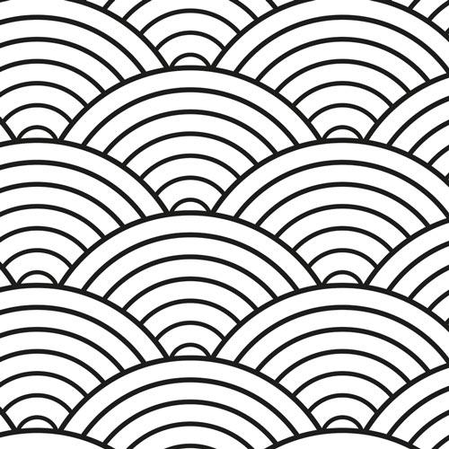 Küchenrückwand Japanische Wellen, fugenlose Wandpaneele aus Alu-Verbund 3mm
