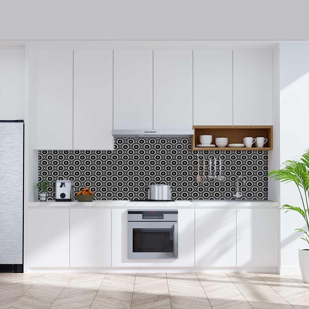 Küchenrückwand Blumen Muster