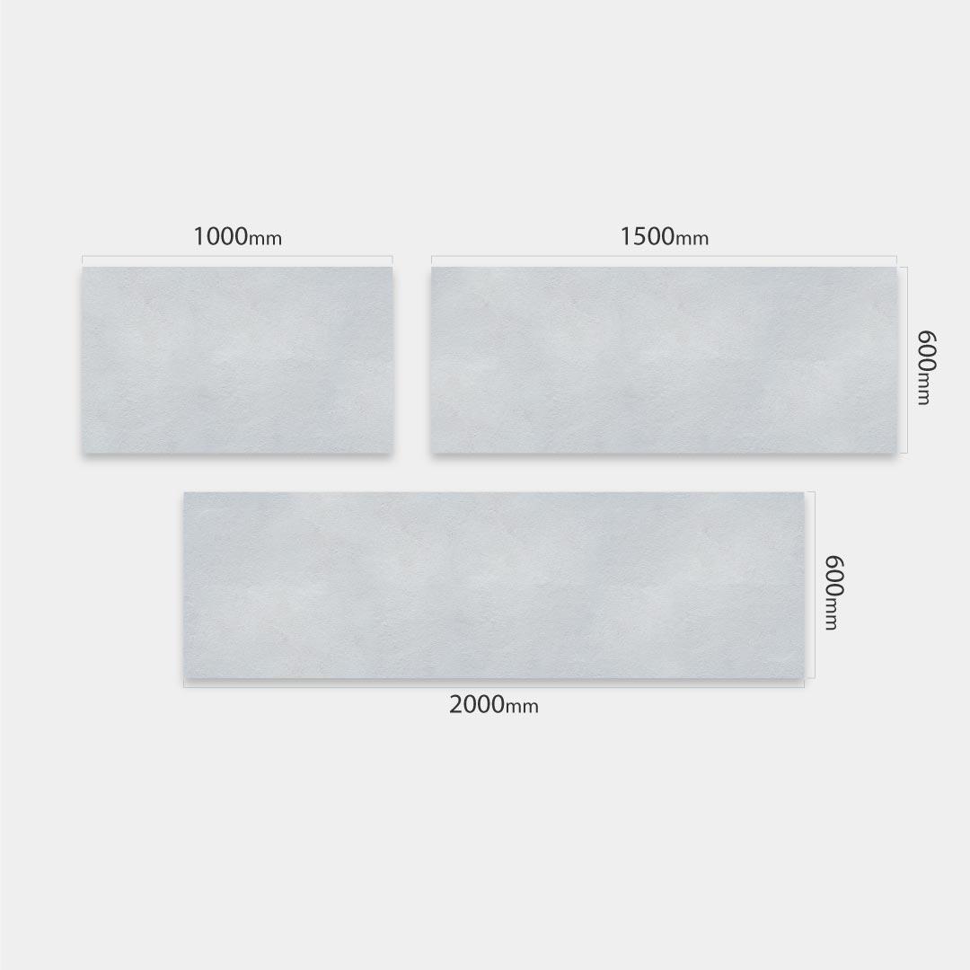 Küchenrückwand Beton Raw, fugenlose Wandpaneele aus Alu-Verbund 3mm