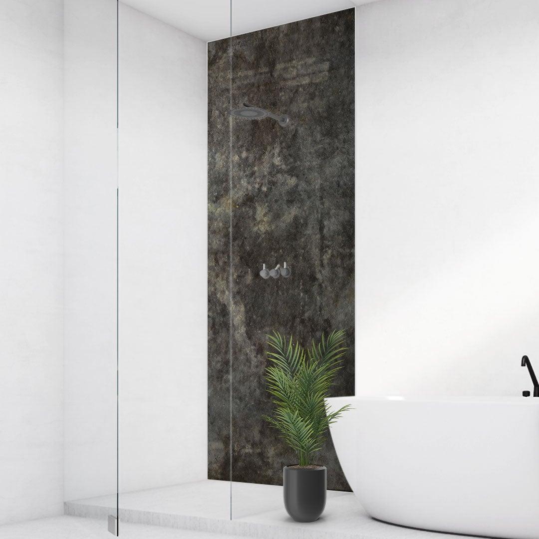 Duschrückwand Beton schwarz