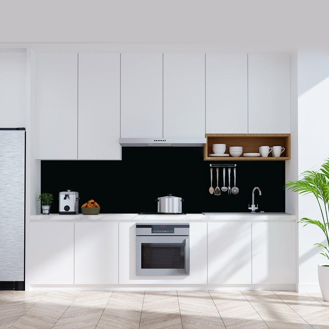 Küchenrückwand schwarz