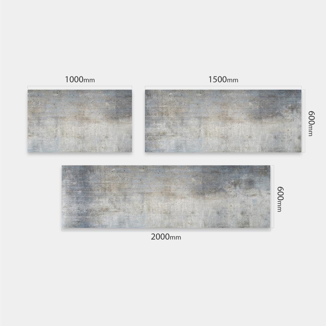 Küchenrückwand Beton Flair, fugenlose Wandpaneele aus Alu-Verbund 3mm