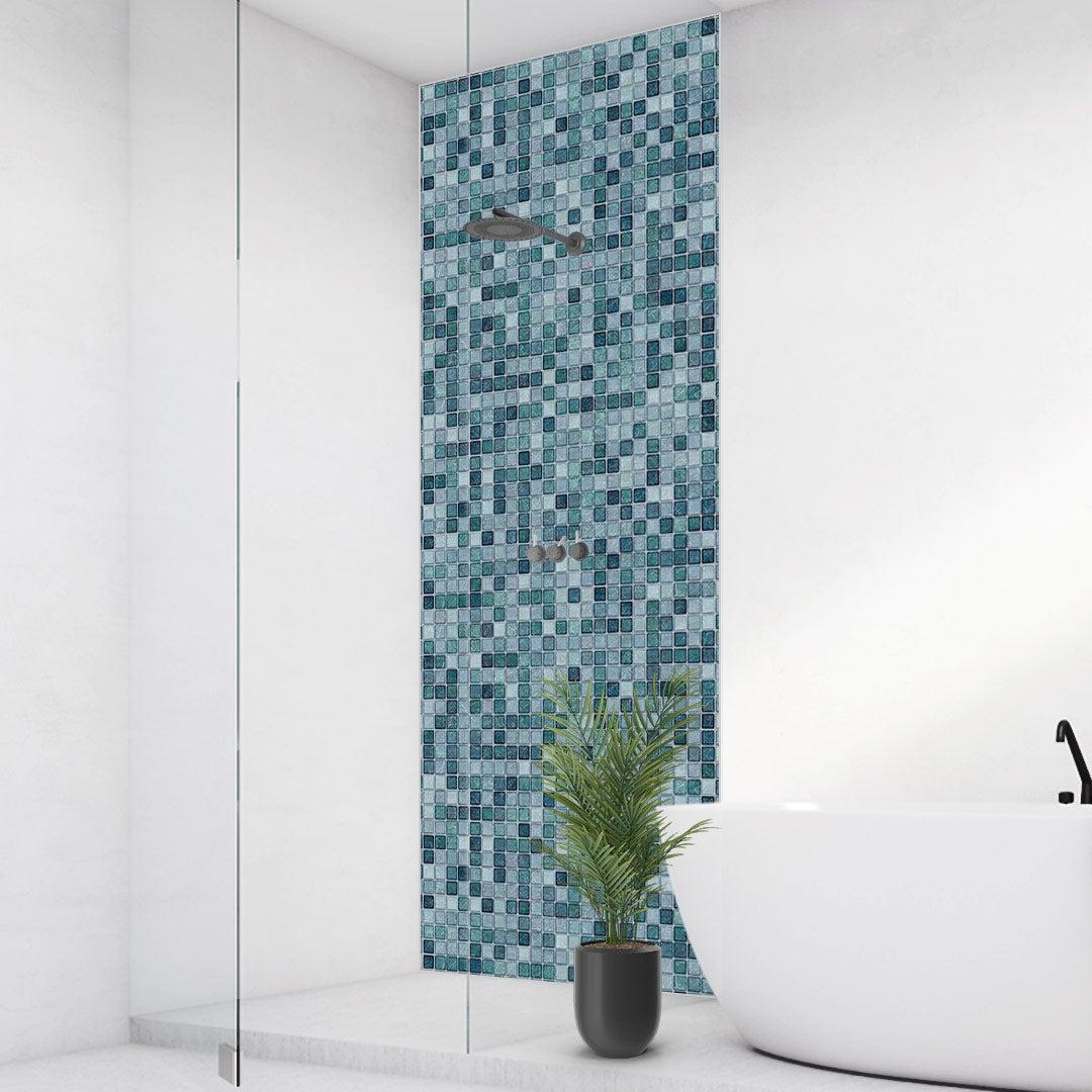 Duschrückwand Mosaik Aqua