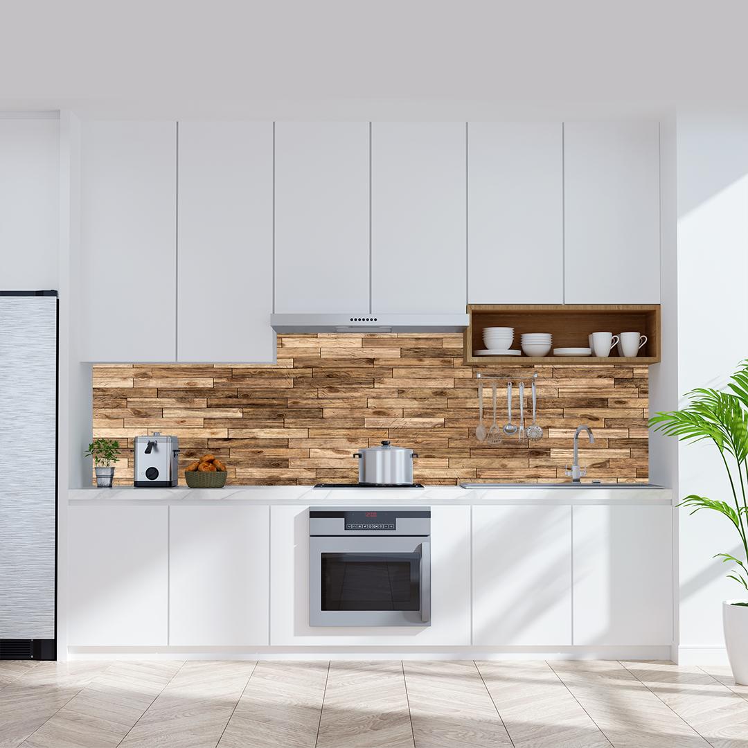 Küchenrückwand Spaltholz