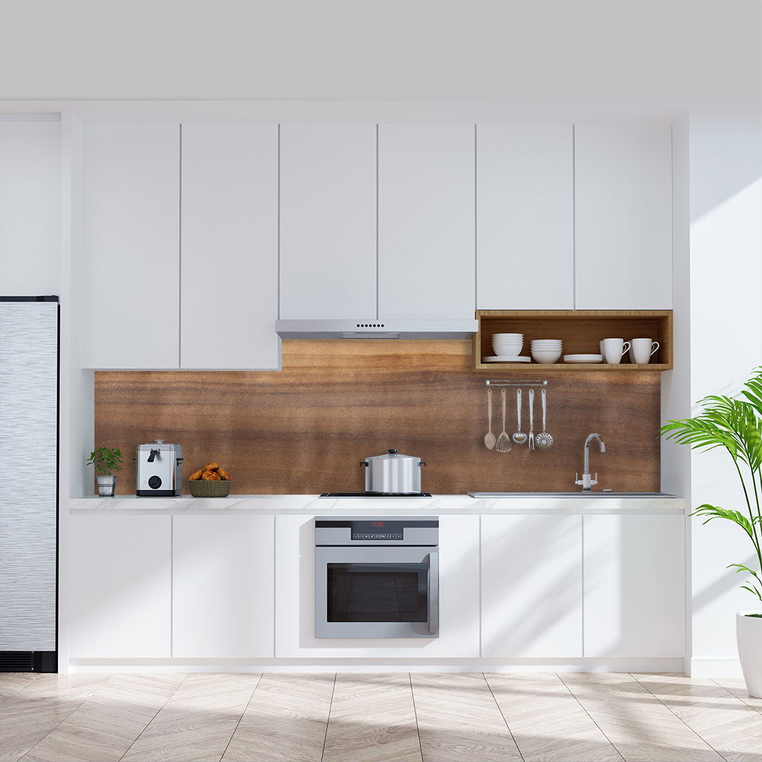 Küchenrückwand Aspenholz