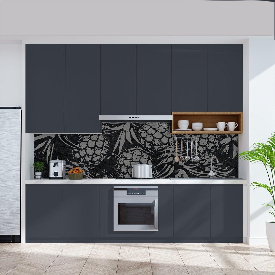Küchenrückwand Ananas auf Schiefer Steinplatte