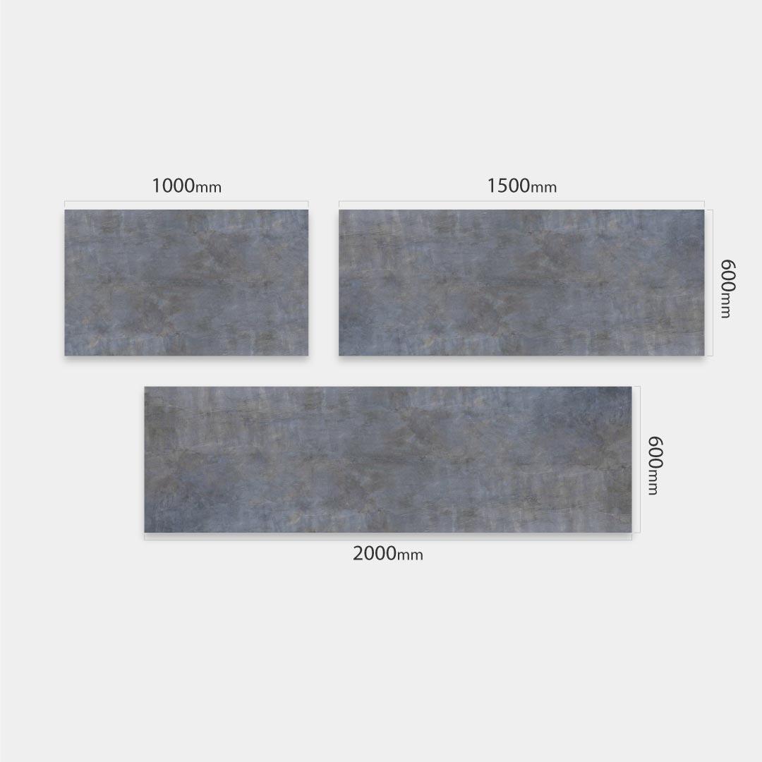 Küchenrückwand Betonwand, fugenlose Wandpaneele aus Alu-Verbund 3mm