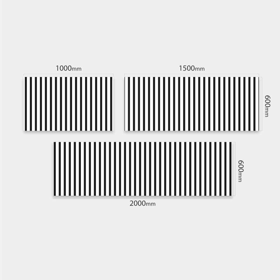 Küchenrückwand Streifen, fugenlose Wandpaneele aus Alu-Verbund 3mm