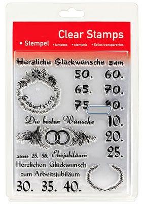 46845 - Clear Stamp Set - Jubiläum / Zahlen -