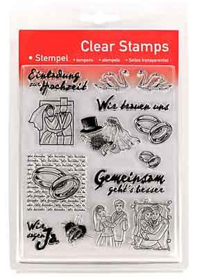 46810 - Clear Stamp Set - Hochzeit -