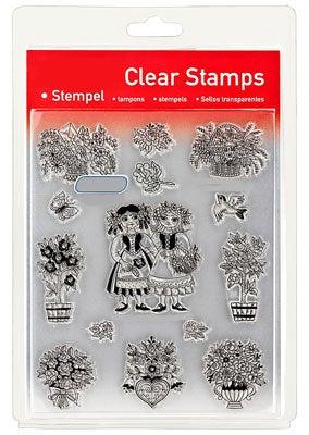 46850 - Clear Stamp Set - Blumen Altdeutsch -