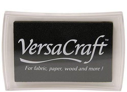 96082 - VersaCraft - Real Black -  Stoff-Stempelkissen -