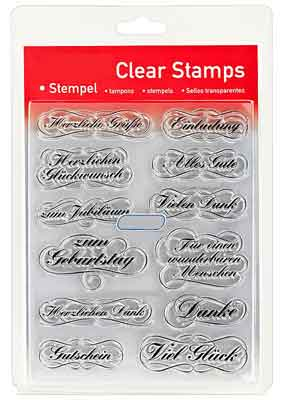46807 - Clear Stamp Set - Texte 2 -