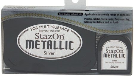 98592 - StazOn Metallic - Silver - Stempelkissen Set -