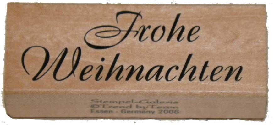 20952 - Schrift-Stempel - 30x80 mm - Frohe Weihnachten -