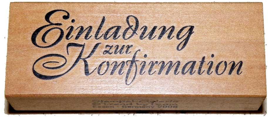 20975 - Schrift-Stempel - 30x80 mm - Einladung zur Konfirmation -