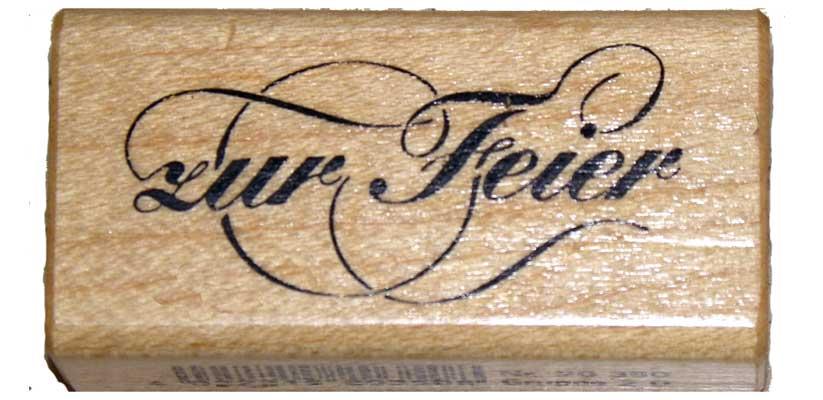 20350- Schrift-Stempel - 30x60 mm - Zur Feier -