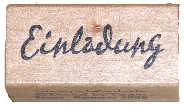 20800 - Schrift-Stempel - 20x40 mm - Einladung -