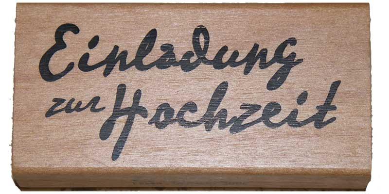 20810 - Schrift-Stempel - 40x80 mm - Einladung zur Hochzeit -