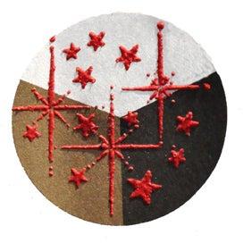 65434 - Embossing-Pulver - 10 Gramm - Rot + Flitter Perlmutt -