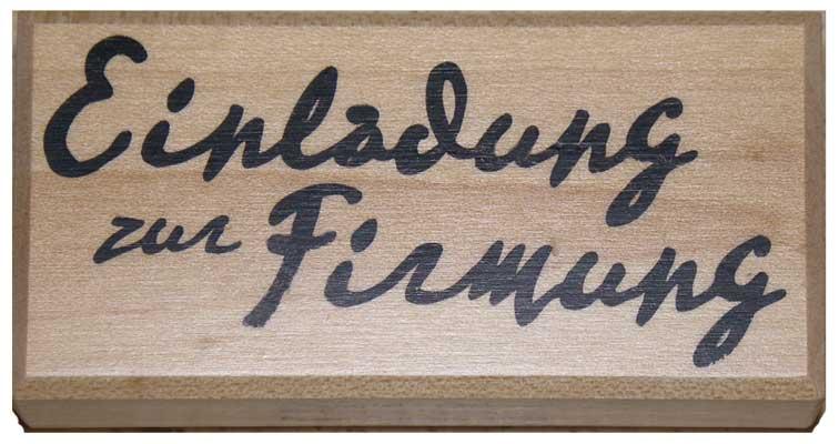 20874 - Schrift-Stempel - 40x80 mm - Einladung zur Firmung -