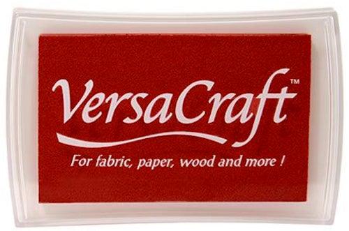 96014 - VersaCraft - Poppy Red - Stoff-Stempelkissen -