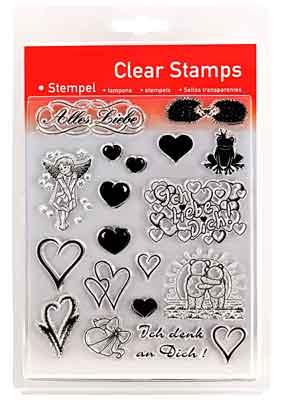 46809 - Clear Stamp Set - Liebe -