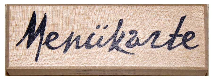 20839 - Schrift-Stempel - 30x95 mm - Menükarte -