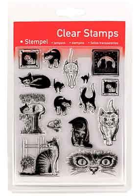 46805 - Clear Stamp Set - Katzen -