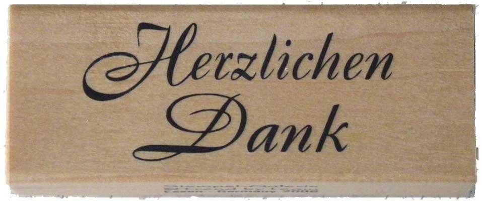 20944  - Schrift-Stempel - 30x80 mm - Herzlichen Danke -