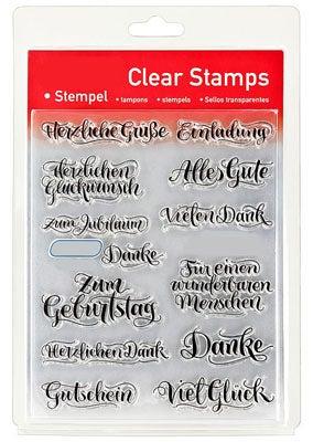 46828 - Clear Stamp Set - Texte Kalligrafisch -