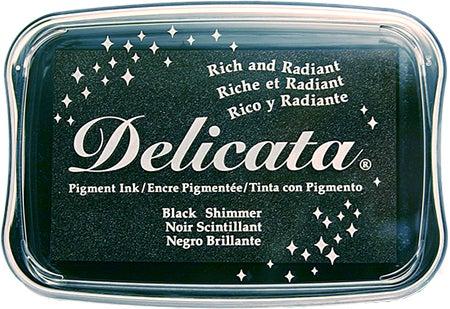85382 - Delicata - Black Shimmer - Stempelkissen -