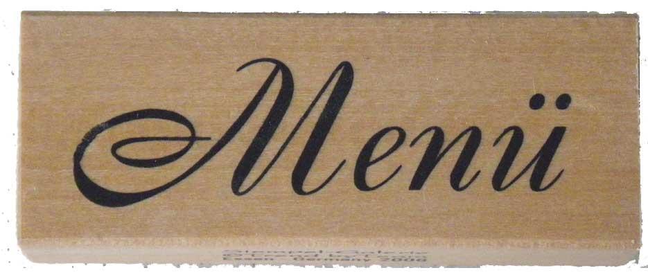 20938 - Schrift-Stempel - 30x60 mm - Menü -