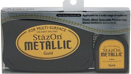 98591 - StazOn Metallic - Gold - Stempelkissen Set -