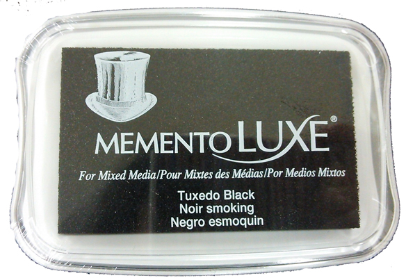 83390 - MementoLuxe - Tuxed Black - Stoff-Stempelkissen -