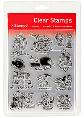 46840 - Clear Stamp Set - Sprüche - Das sagt man so -