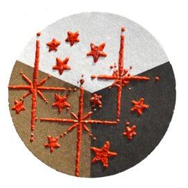 65432 - Embossing-Pulver - 10 Gramm - Orange + Flitter Perlmutt -