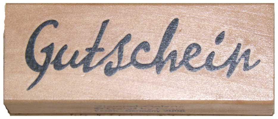20891- Schrift-Stempel - 30x80 mm - Gutschein -