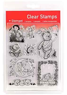 46818 - Clear Stamp Set - Teddys 2 -