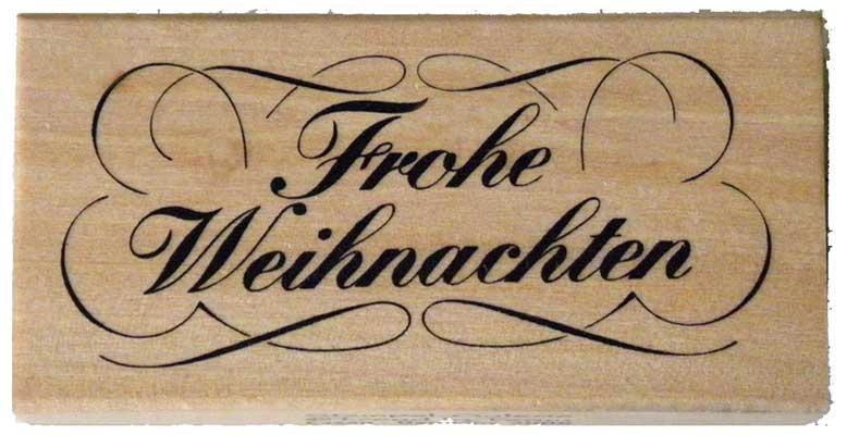 20336 - Schrift-Stempel - 40x80 mm - Frohe Weihnachten -