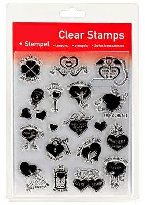 46843 - Clear Stamp Set - Mit Herz -