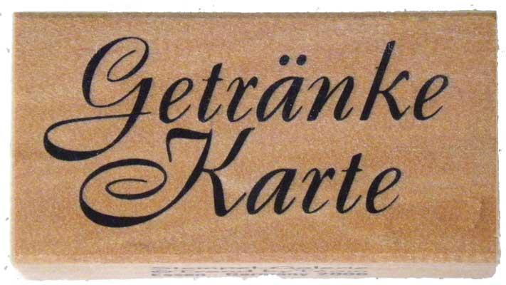20937 - Schrift-Stempel - 30x60 mm - Getränke-Karte