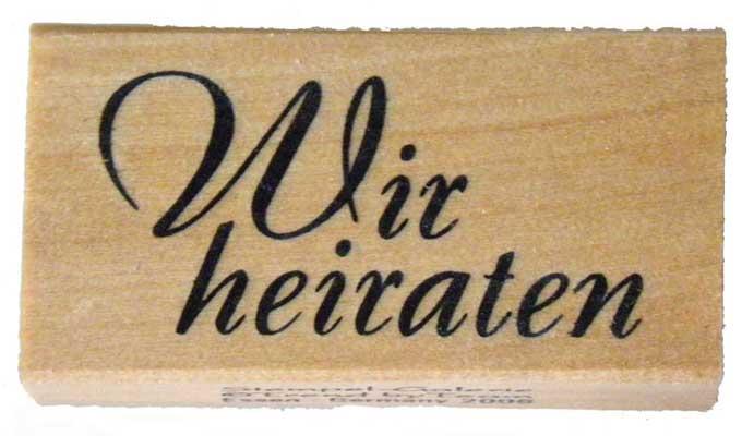 20914 - Schrift-Stempel - 30x60 mm - Wir heiraten -