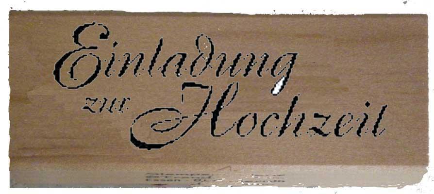 20910 - Schrift-Stempel - 30x80 mm - Einladung zur Hochzeit -